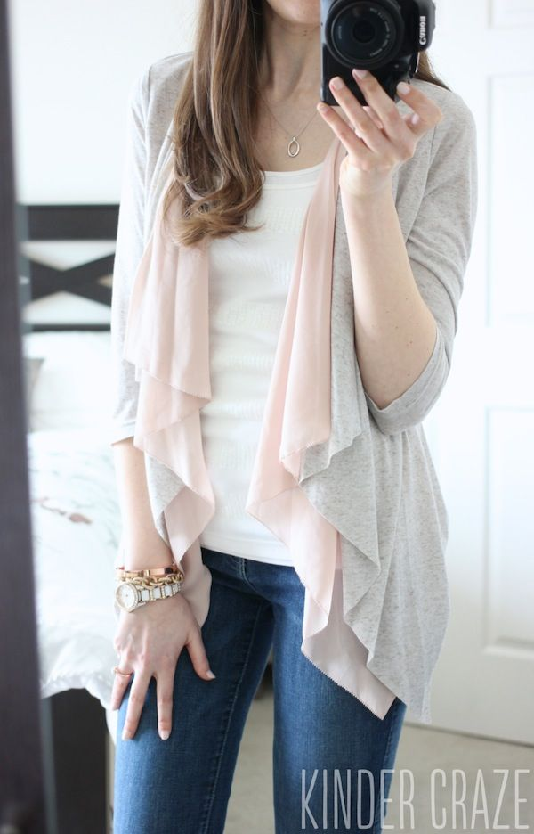 I would love a cardigan / sweater in a light color for spring / summer. This looks dreamy