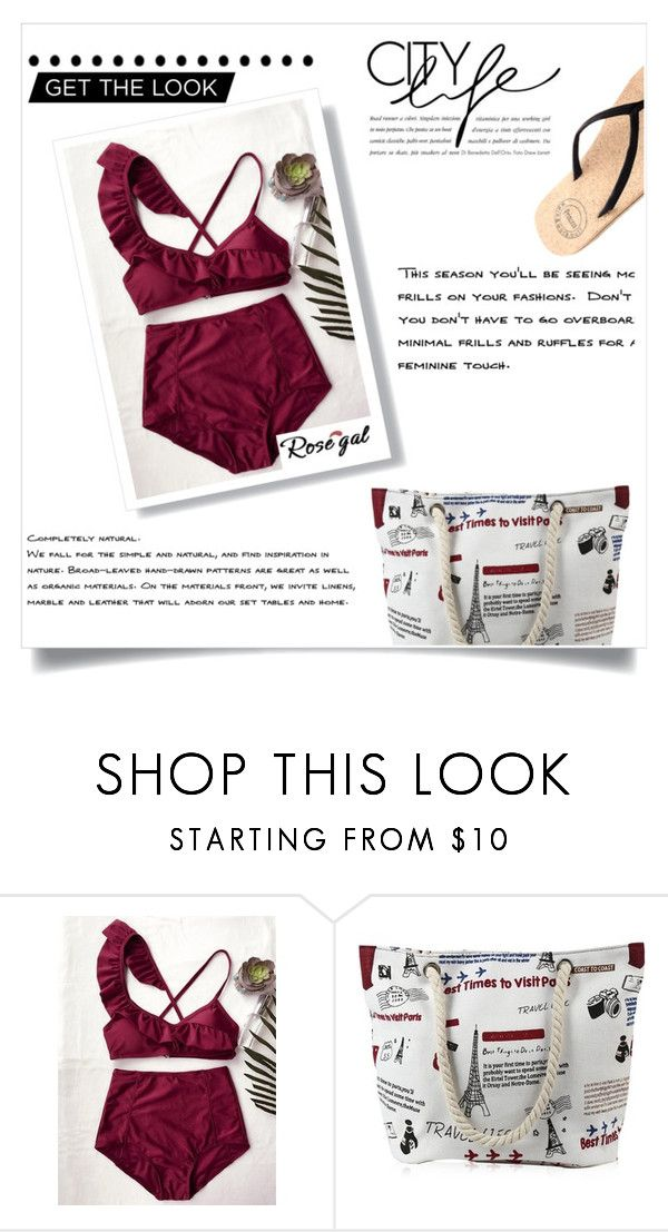 """Rosegal bikini (free coupon code below)"" by collinsangelface110 ❤ liked on Polyvore"