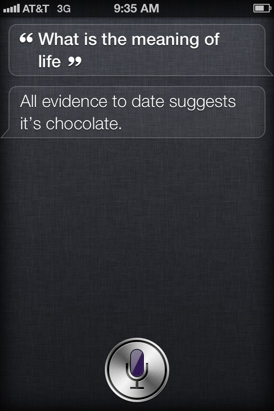 Wow even seri knows life's all about chocolate (-;