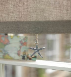 New House Textiles - Hessian fabric roller blind fabric - a wonderfully natural fabric made of flax - it hangs beautifully and adds great warm and texture to your window - a great staple and a big favourite. Available form www.newhousetextiles.co.uk