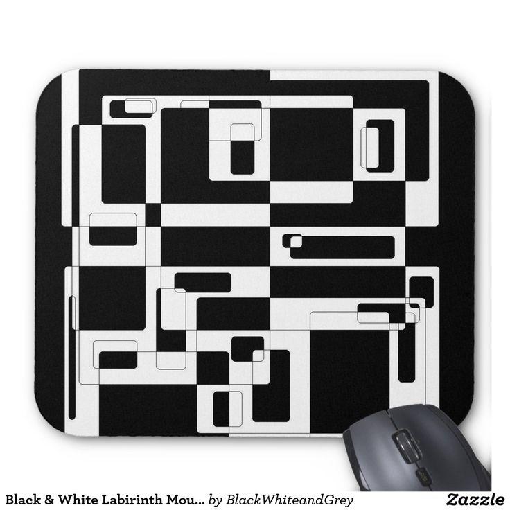 Black & White Labirinth Mousepad