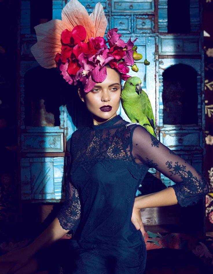 frida5 Åsa Engström Evokes Frida Kahlo in DV Mode by Fredrik Wannerstedt