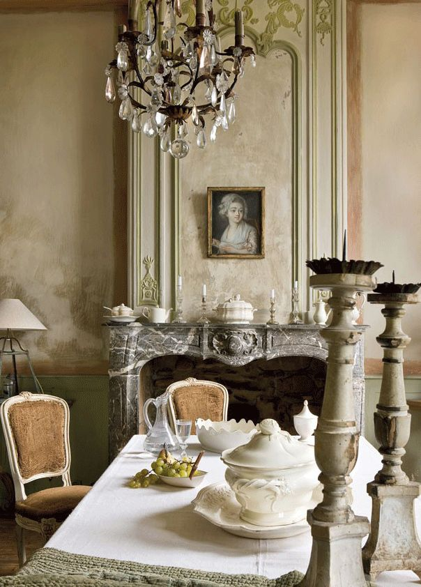 .: Dining Rooms, Home Interiors, French Interiors, Fireplaces, Architecture Interiors, Interiors Design, French Country, Southern France, French Style