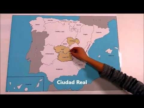 La Geografía española: Comunidades Autónomas y Provincias - YouTube