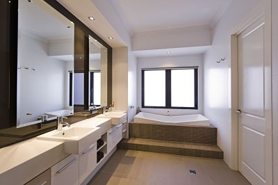 Create interest with a different shaped bath