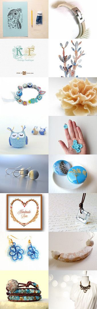 creamy light blue summer by Dominga on Etsy--Pinned with TreasuryPin.com