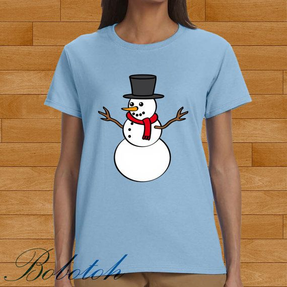 snowman christmas design for men and women t-shirt by bobotooh