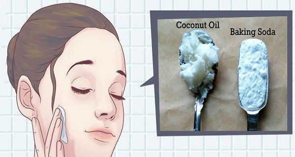 2 parts coconut oil 1 part baking soda.