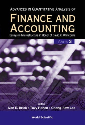 I'm selling Advances In Quantitative Analysis Of Finance And Accounting, Vol 3 - $30.00 #onselz