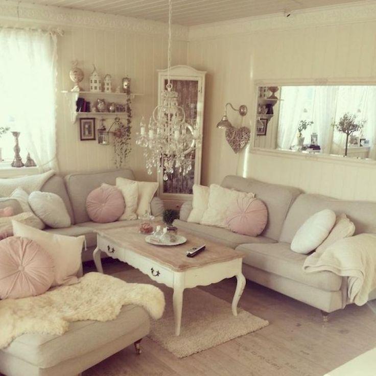 Romantic Shabby Chic Living Room Decor Ideas (12)