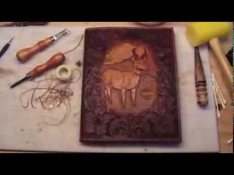 Making a Leather Book Cover - YouTube