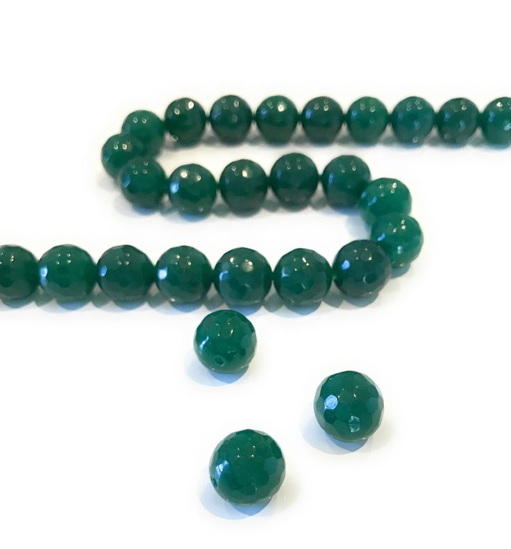 Green Onyx Beads , Onyx Beads, 10mm Beads, Gemstone Beads, Faceted Gemstone Beads, Faceted Beads, Green Onyx, Onyx, Jewelry Making, Findings by AkstarBeadsandCharms on Etsy