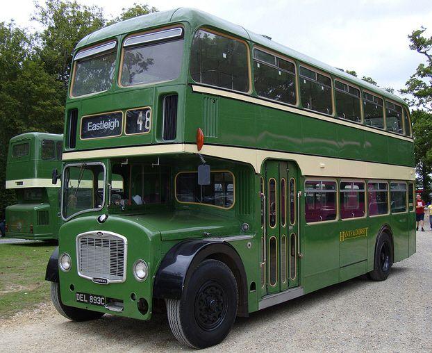 DEL 893c Double Decker Vintage Bus Hire Service in Weston-super-Mare for Wedding or private Hire