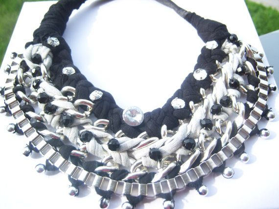 necklace woven chains by hara75 on Etsy, $20.00