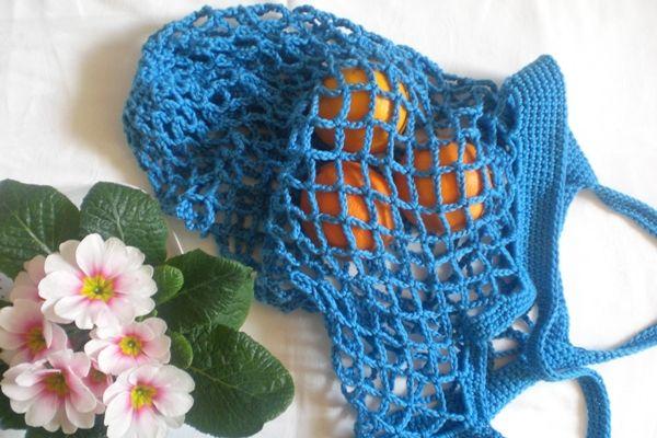 Kleines Fräulein Lotta: DIY: Ein Einkaufsnetz häkeln