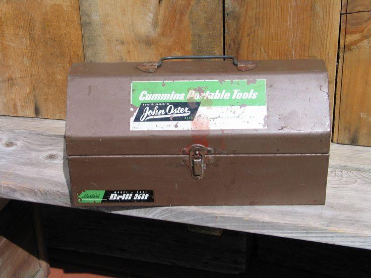 1950's Vintage Metal Box Hinge Handle tool box Storage Hardware Paints Art Supplies Jewelry by Itzvintagedarling on Etsy