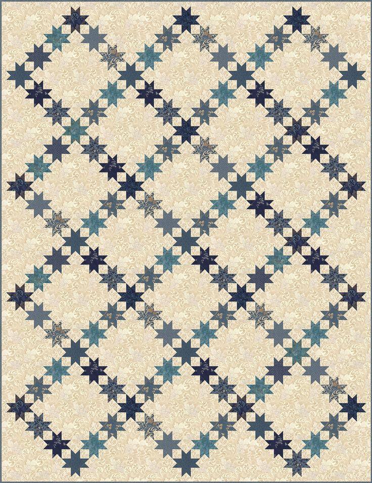 Aurora Quilt - purchase pattern @ Laundry Basket Quilts