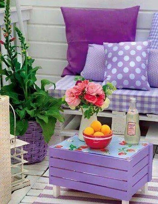 Terraza en lila