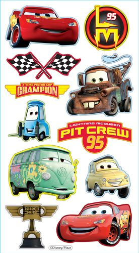 EK Success - Disney Collection - 3 Dimensional Puffy Stickers - Cars at Scrapbook.com $2.74