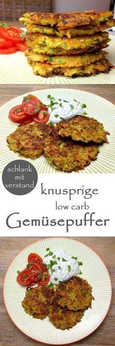 low carb knuspriges Gemüsepufferrezept #lowcarb #keto #lchf #slimming #shortening …   – easy cooking&super food