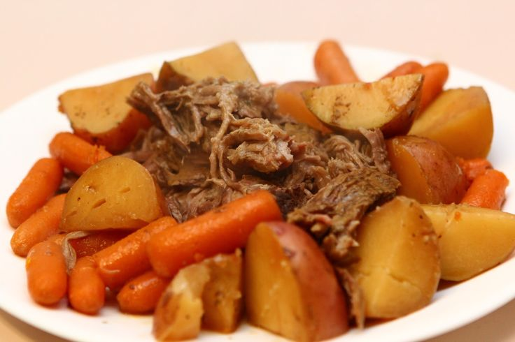 Crockpot Pot Roast. 1 Ranch packet, 1 Italian Packet, 1 Brown Gravy Packet, pour over roast and vegetables