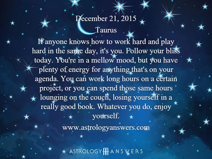 The Astrology Answers Daily Horoscope for Monday, December 21, 2015 #astrology