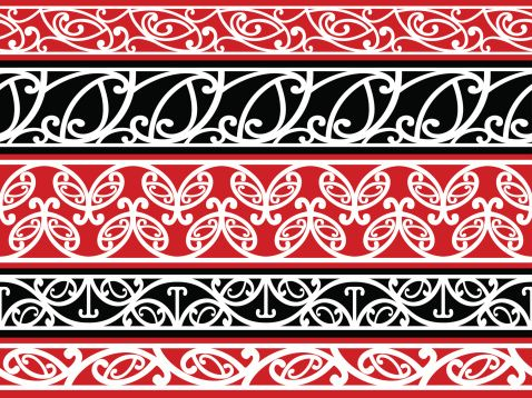 Seamless Maori Kowhaiwhai patterns