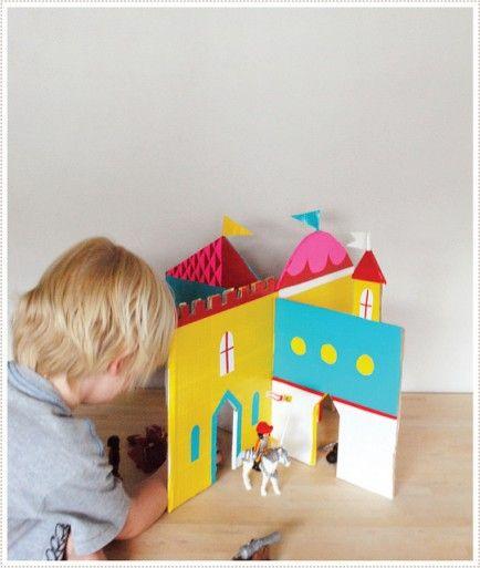 DIY lindo castelo de papelão!!