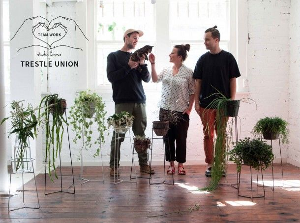 TEAM.WORK: a Studio Home and Trestle Union collaboration // Pot Plant Stands. Designed and made in New Zealand. Available online exclusively at trestleunion.co.nz // Photography by Evie Mackay, plants from The Botanist, Auckland.
