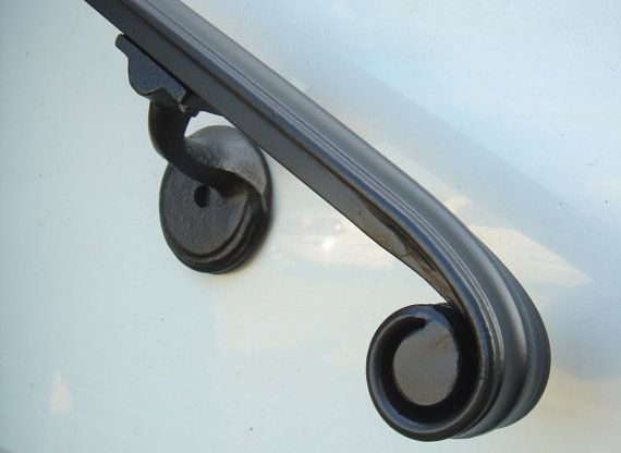 4 Ft Wrought Iron Hand Rail Wall Rail Stair Step by Theironsmith, $135.00