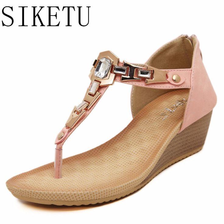 En été, les chaussures de femmes de grande taille, sangles, thong sandales femmes sandales en daim et vert,45,