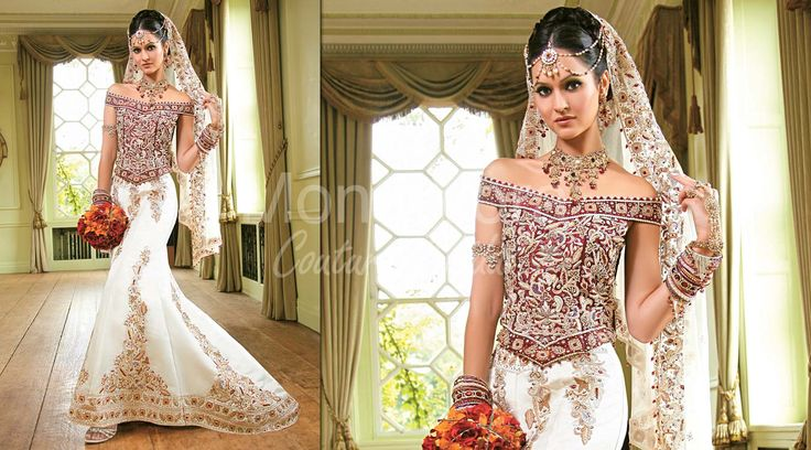 Indian Bridal Wear Fusion Gowns Traditional Indian