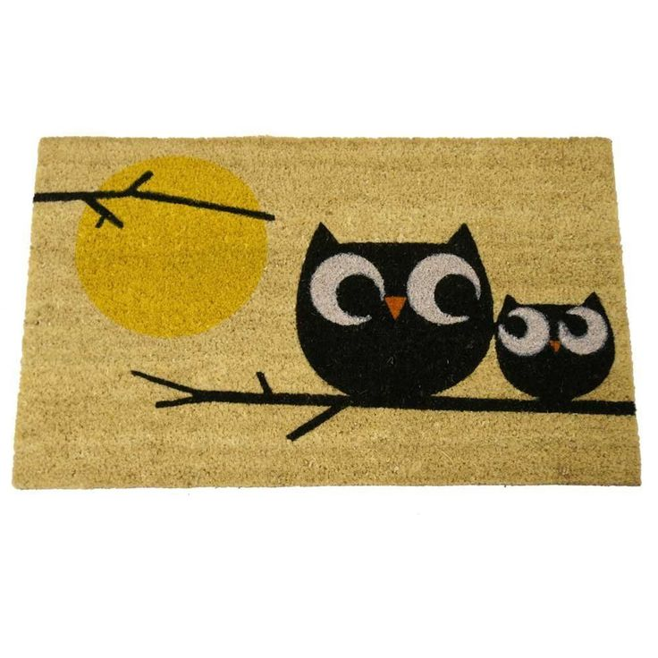 Welcome Owls Coir Door Mat 18 Inch By 30 Inch Rug Floor