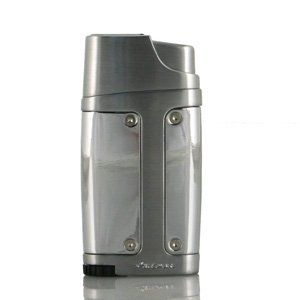 Xikar lighter Element Double Jet - silver by Xikar. Save 8 Off!. $45.95. Features double jet flame with Piezo ignition protective lid single thumb action oversize adjustment wheel and se-through fuel guage.