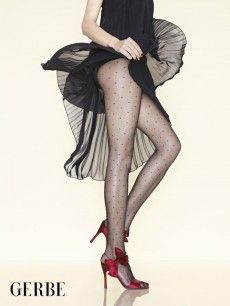 Gorgeous Gerbe Tights Perfect For Your Christmas Parties! Available at: http://www.vollers-corsets.com/plumetis.html