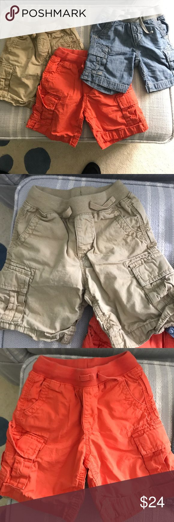 Gap cargo short bundle size 3T Gap cargo short bundle size 3T all in good condition no rips tears or stains GAP Bottoms Shorts