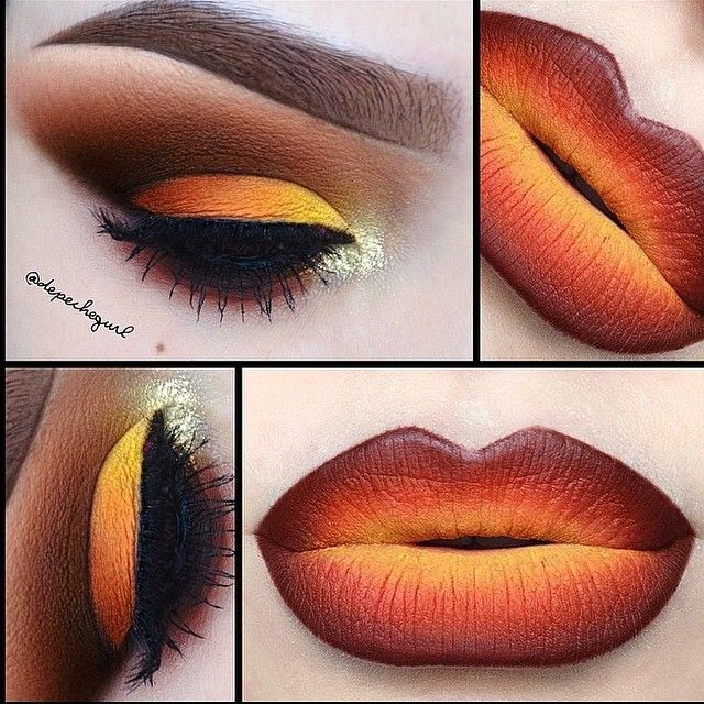 Fall inspired makeup #fall #halloween