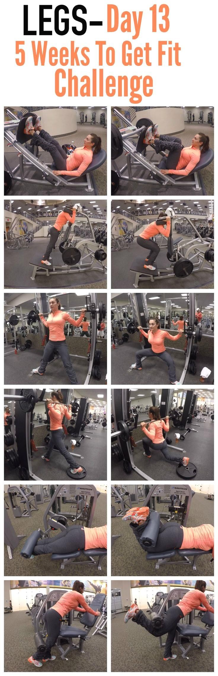 5 Weeks To Get Fit C  5 Weeks To Get Fit Challenge Day 13-LEGS.