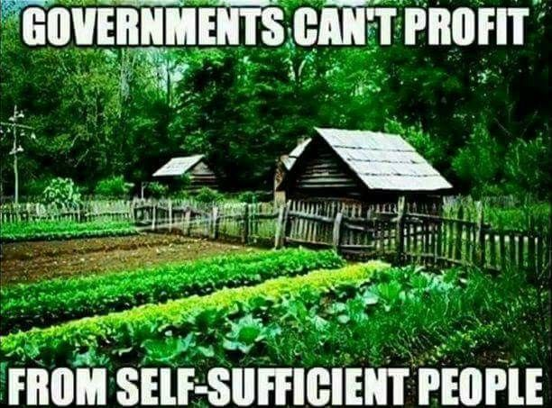So what does the state do in such a situation? They restrict your ability to be self sufficient, they seek to deny you the ability to protect yourself, to collect rainwater, to cultivate your own land etcetera. As soon as you slip from their grasp they will secure a new one by criminalizing the means for your escape.