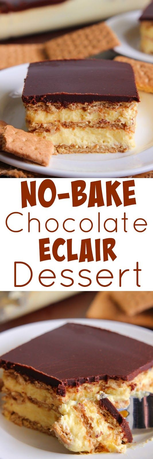 Eat Cake For Dinner: No-Bake Chocolate Eclair Dessert