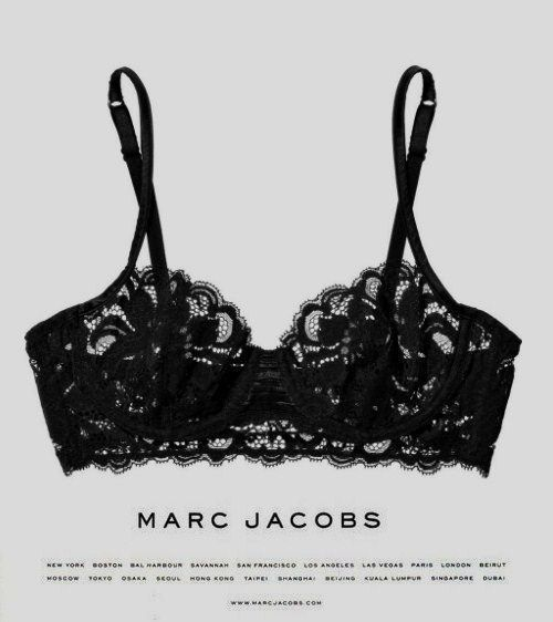 Black lace bra Marc Jacobs