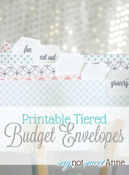 Easy Printable Budget Envelopes   By saynotsweetanne.com via somewhatsimple.com   #printable #budget #envelopes #money