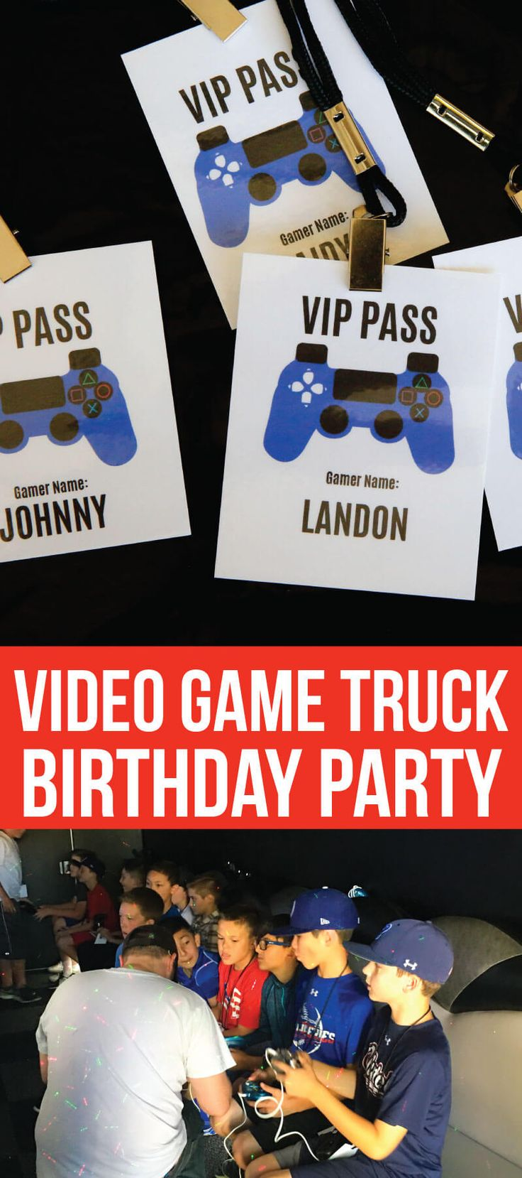 Video game truck party