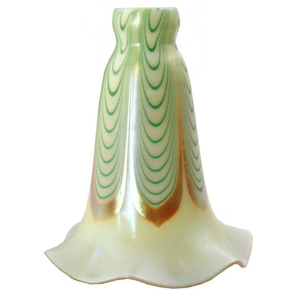 83 best american art glass lamp shades images on pinterest american art nouveau glass green dragged loop lamp shade aloadofball Images