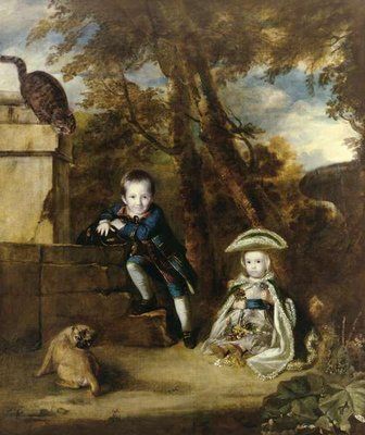 Paul Cobb Methuen and his sister Christian, later Lady Boston Postcards, Greetings Cards, Art Prints, Canvas, Framed Pictures & Wall Art by Sir Joshua Reynolds