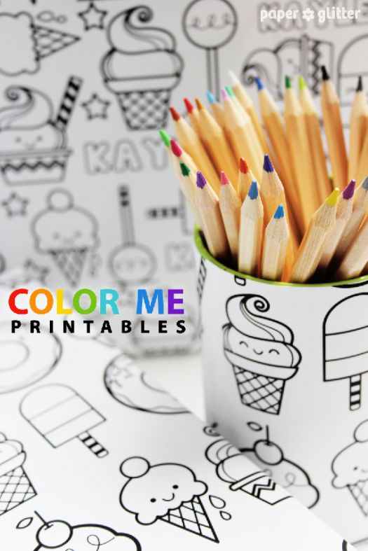 color me printables wrapping paper. Cute!