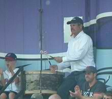 John Adams and his drum; has played at every Indians home game except for 38 since 1973.  The Indians provide him with two season tickets every year (one for his drum) and is the only fan honored with his own bobblehead.