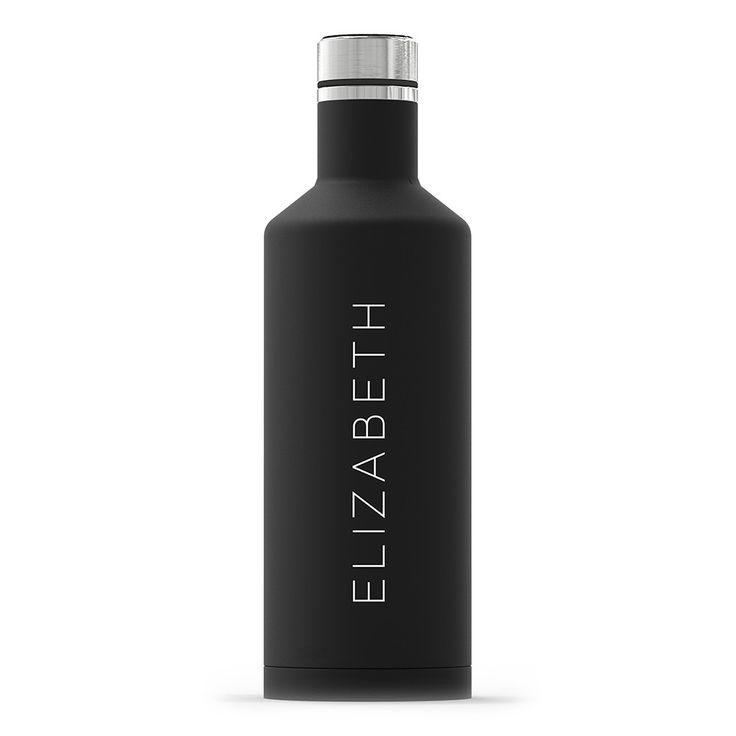 Personalized Matte Travel Bottle (Black/White)
