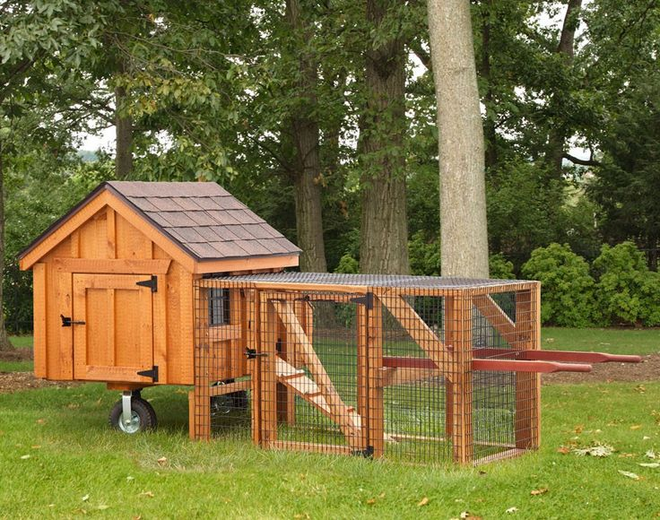 3x4 Cedar A Frame Chicken Coop With Run Cage Movable On