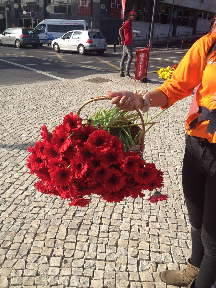 E quando de manhã te oferecem flores? Isso é um #Happy Day. #Happytowork #Happytowork, #PersonalCoachingLisboa. #FollowIIUP.